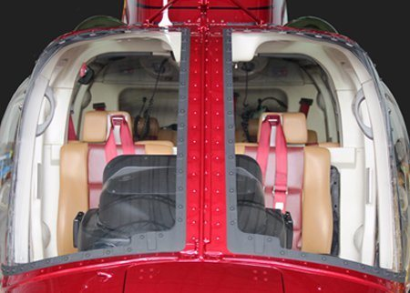 Bell 206 Series, Polycarbonate Windshield Replacement Kit