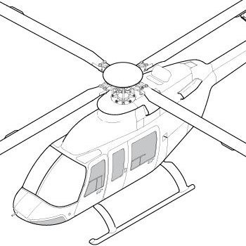 Windows on helicopter bell 429