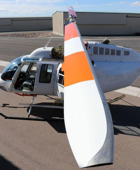 Van Horn Orange Main Rotor Blades on Bell 206B