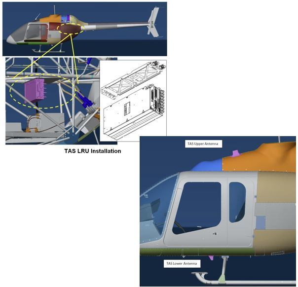Bell 505, Traffic Advisory System Installation Kit
