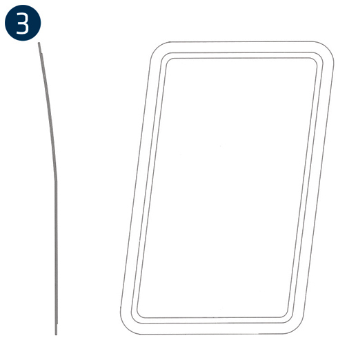 Bell 206L Series, Fuselage/Litter Door Windows