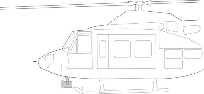 Bell 212, 412, 412EP, Quick Mount Kit - Nightsun SX-16