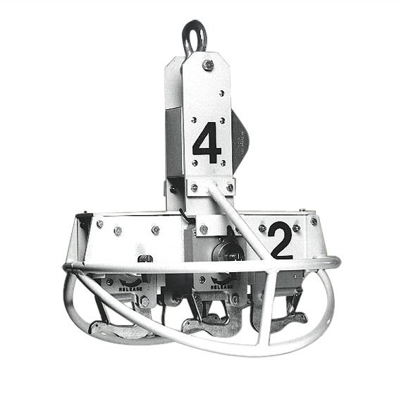4 Hook Carrousel -  Includes Carrousel Frame and Selective Dial Control for Release of 4 Loads