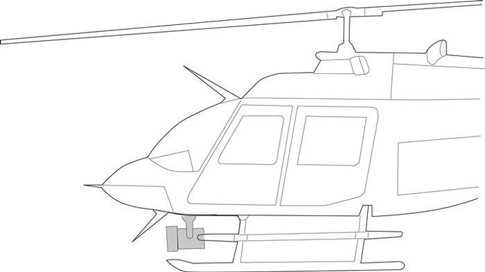 Bell OH-58, Quick Mount Kit - Nightsun SX-16