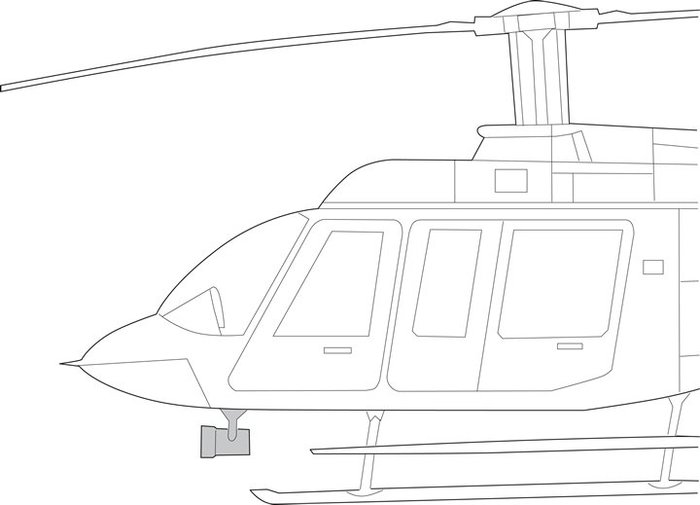 Bell 206L Series, Quick Mount Kit - Nightsun SX-16