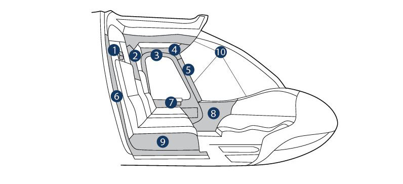 bell 407  interior trim - front section