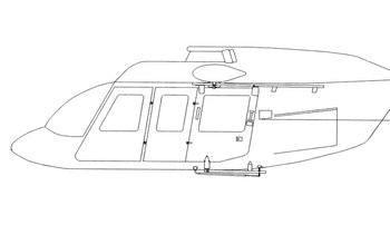 Bell 206 Series, Hoist Guard Assembly