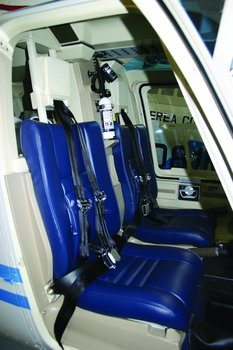 Bell 206A, B, Shoulder Harness Equipped with Litter Provisions