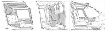 Bell TH-67, Interior Trim - Complete Kits