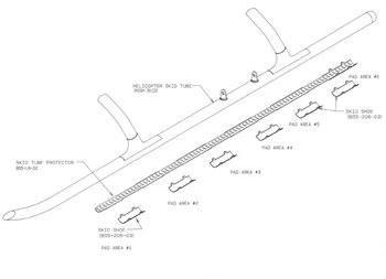Bell 206L, 206L-1, 206L-3 High Gear, Skid Tube Protectors