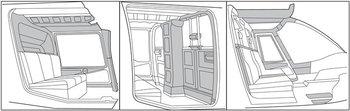 Custom Interior, Bell 206A, B Thru S/N 3566
