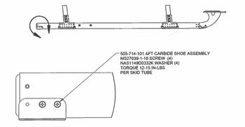 Bell 505 Aft Carbide Shoe Kit