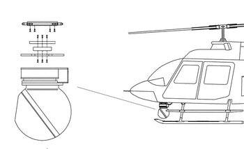 Bell 206A, B, L Series, Wescam Model 104/12 Camera Quick Mount Kit