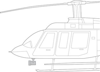 Bell 206L Series, Quick Mount Kit – Starburst SX-5